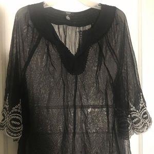 Black Alfani sheer shirt